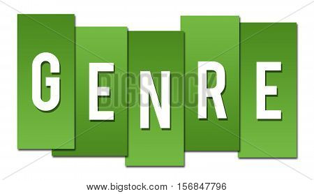 Genre text alphabets written over green background.