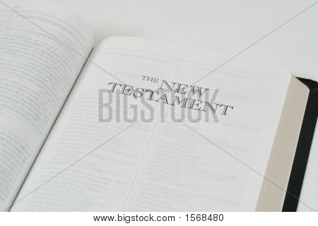 Bible Open To The New Testament