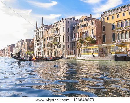 Gondolier In Canal Grande