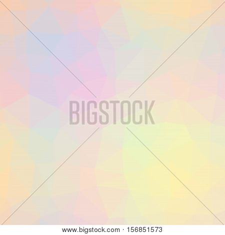Low Poly Pattern Design. Large Cells. Vector Polygonal Background Filled With Tinted Colors Gradient