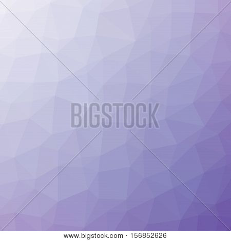 Low Poly Pattern Design. Large Cells. Vector Polygonal Background Filled With Dark Purple To Light P