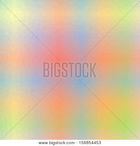 Low Poly Pattern Design. Small Cells. Vector Polygonal Background Filled With Multicolored Tinted Gr