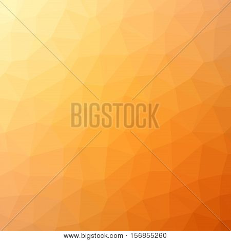 Low Poly Pattern Design. Large Cells. Vector Polygonal Background Filled With Yellow To Orange To Br