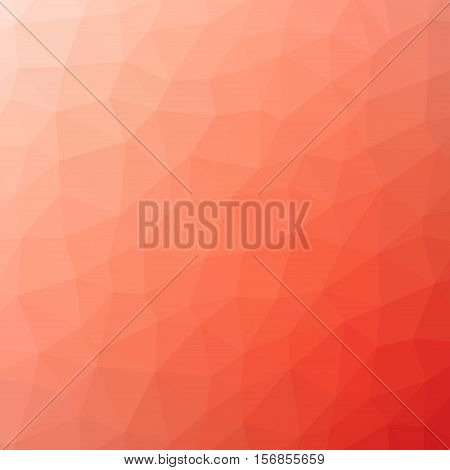 Low Poly Pattern Design. Large Cells. Vector Polygonal Background Filled With Light Pink To Deep Red