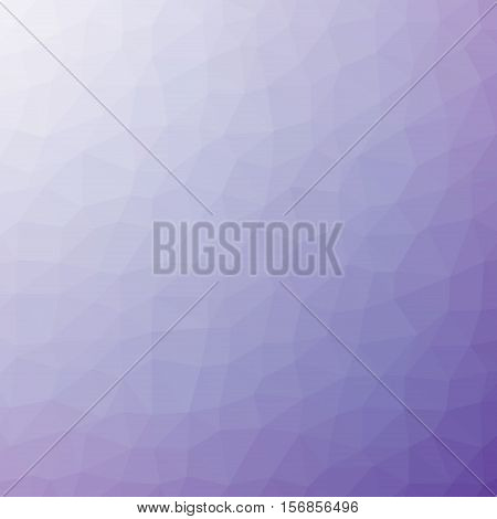 Low Poly Pattern Design. Medium Cells. Vector Polygonal Background Filled With Dark Purple To Light