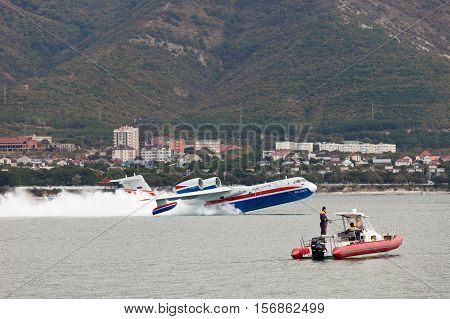 Take-off Of Aircraft From A Surface Of The Water
