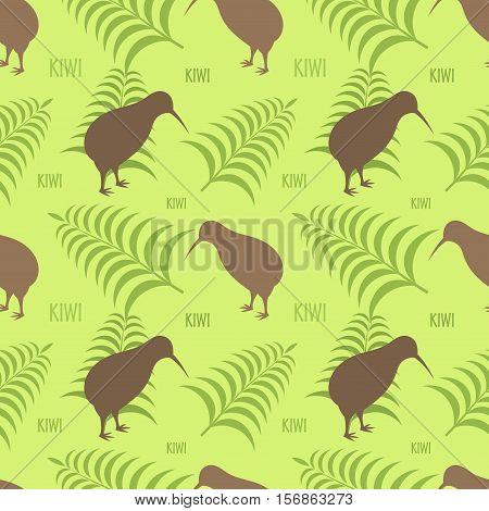 Kiwi And Fern Texture