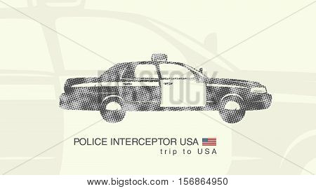illustration of a car police interceptor USA