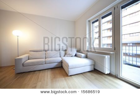 modern living-room, interior view