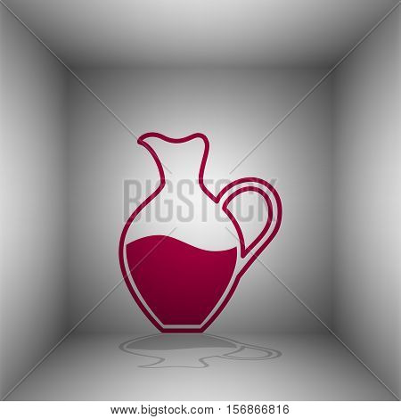 Amphora Sign. Bordo Icon With Shadow In The Room.