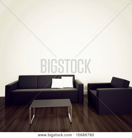 modern Contemporary comfortable interior with 3d rendering