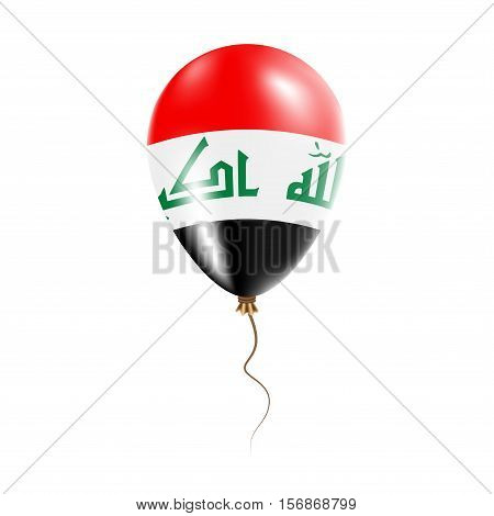Iraq Balloon With Flag. Bright Air Ballon In The Country National Colors. Country Flag Rubber Balloo