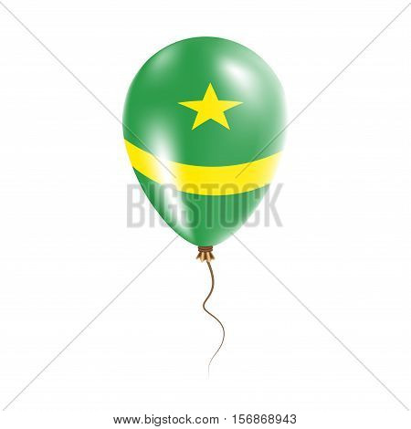 Mauritania Balloon With Flag. Bright Air Ballon In The Country National Colors. Country Flag Rubber