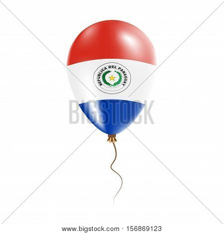 Paraguay Balloon With Flag. Bright Air Ballon In The Country National Colors. Country Flag Rubber Ba