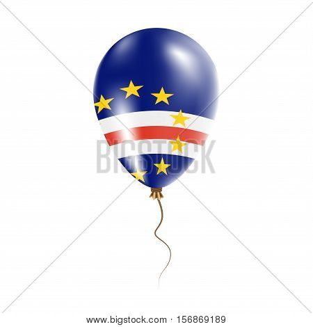 Cape Verde Balloon With Flag. Bright Air Ballon In The Country National Colors. Country Flag Rubber