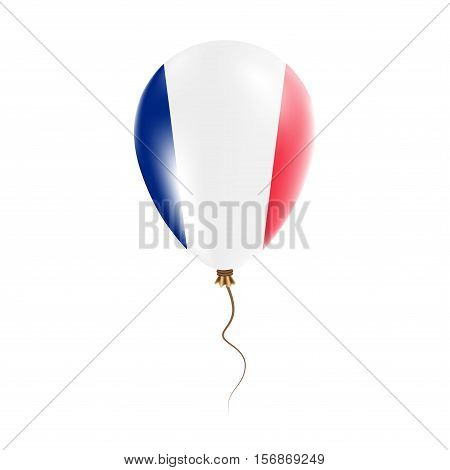 Saint Pierre And Miquelon Balloon With Flag. Bright Air Ballon In The Country National Colors. Count