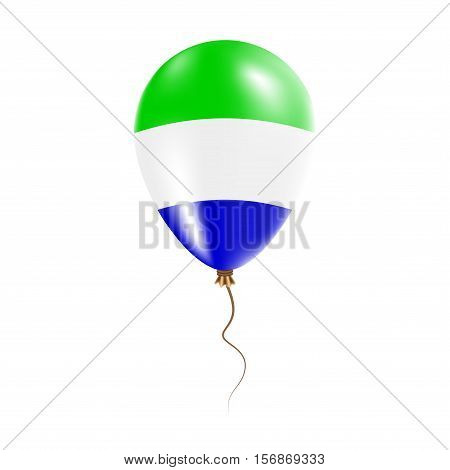 Sierra Leone Balloon With Flag. Bright Air Ballon In The Country National Colors. Country Flag Rubbe