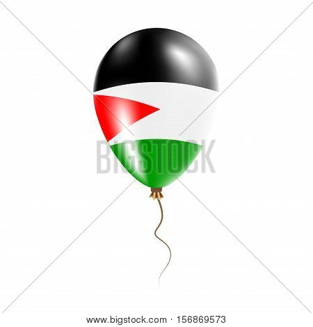 Palestine, State Of Balloon With Flag. Bright Air Ballon In The Country National Colors. Country Fla