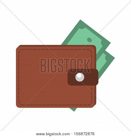 Money in wallet flat design for business and finance vector. Business credit open wallet finance money currency. Opened wallet flat style icon. With plastic cards financial dollar and cash.