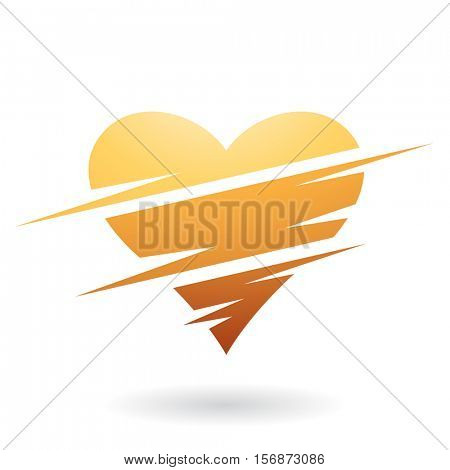 Vector Illustration of a Heart Shaped Abstract Icon isolated on a white background