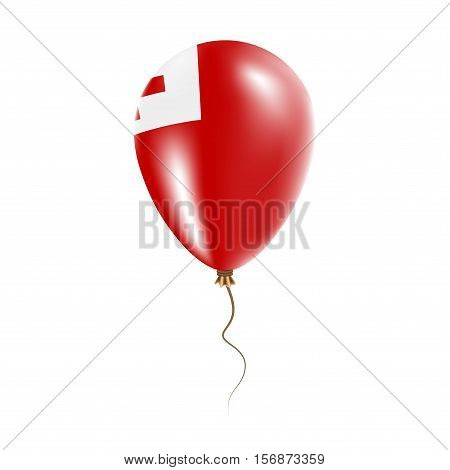 Tonga Balloon With Flag. Bright Air Ballon In The Country National Colors. Country Flag Rubber Ballo