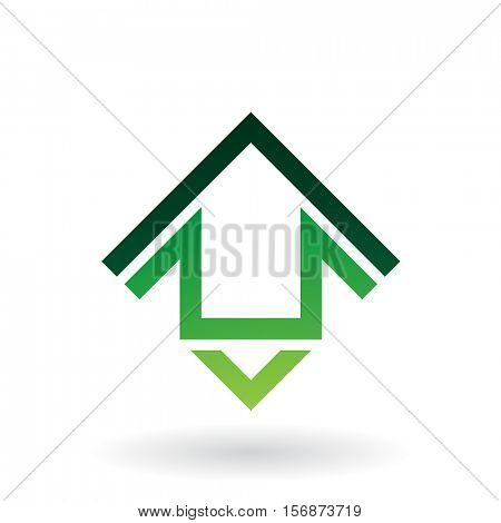 Vector Illustration of Abstract Square Shaped House Icon isolated on a white background
