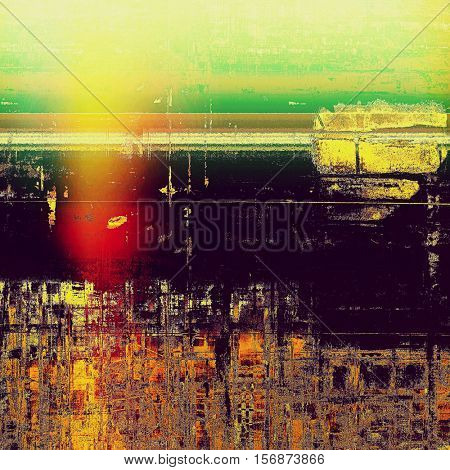 Colorful abstract retro background, aged vintage texture. With different color patterns: yellow (beige); brown; green; red (orange); purple (violet)