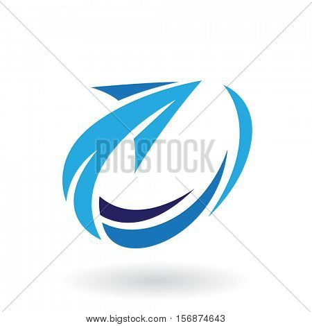 Vector Illustration of Abstract Rotating Arrow Icon isolated on a white background