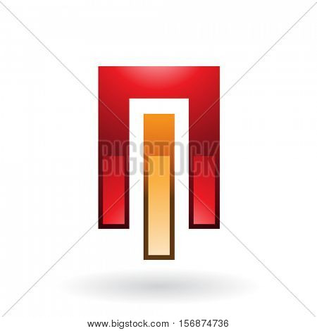 Vector Illustration of Entwined Rectangles Abstract Icon isolated on a white background
