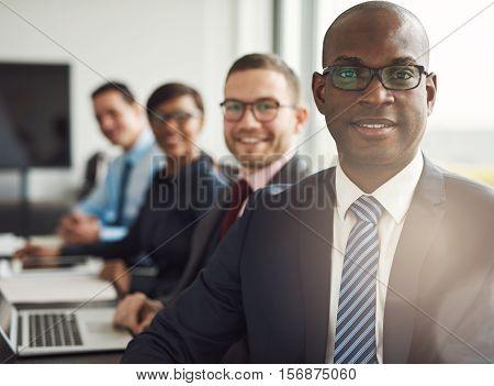 Friendly Confident African Businessman