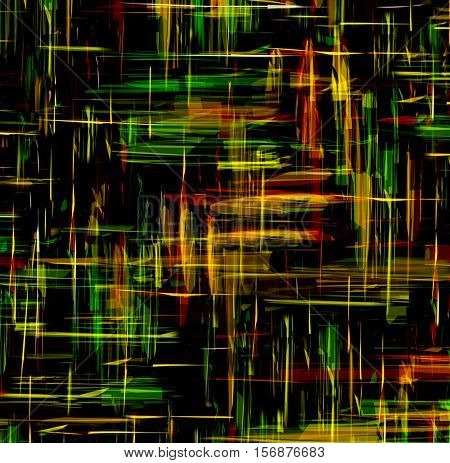 Abstract background with shiny grunge intersecting stripes on dark backdrop
