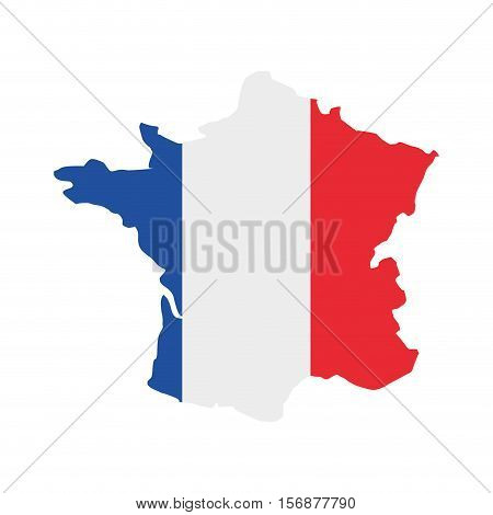 france map isolated icon vector illustration design
