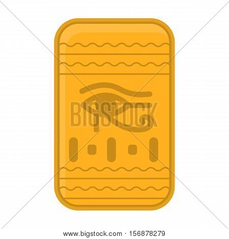 Eye of Horus icon in cartoon style isolated on white background. Ancient Egypt symbol vector illustration.