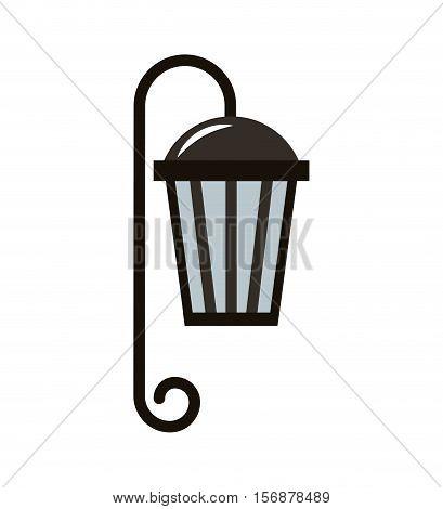 lantern classic park isolated icon vector illustration design
