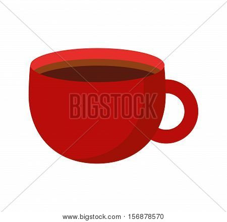 coffee cup drink isolated icon vector illustration design