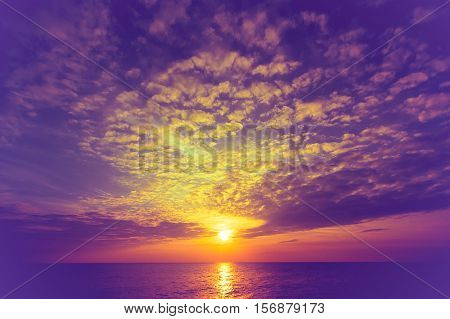 Sky background on sunset. Nature composition .
