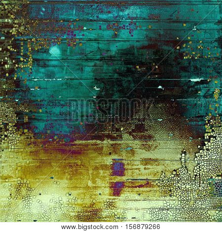 Vintage design background - Grungy style ancient texture with different color patterns: yellow (beige); green; blue; purple (violet); black; cyan