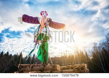Doll for burning on Maslenitsa. Maslenitsa is russian traditional celebration held in the spring.