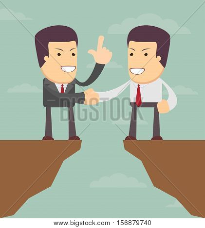 Agreement. Business vector illustration. Men talk about business prospects.