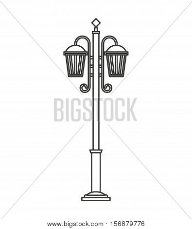lantern classic park isolated icon vector illustration design