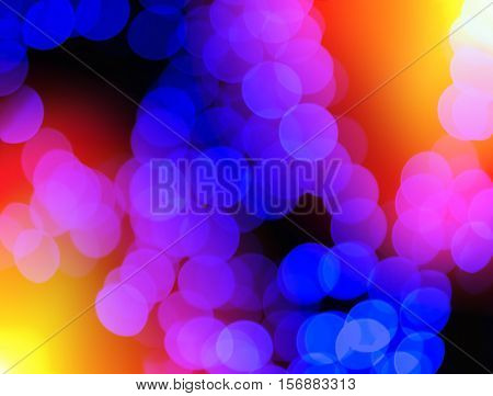 Chaotic Blue Blobs With Light Leak Bokeh Background