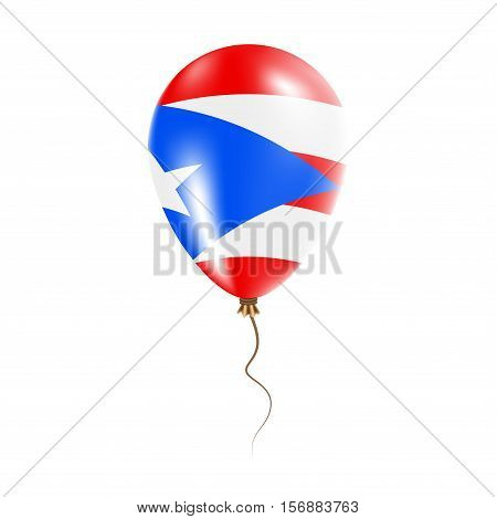 Puerto Rico Balloon With Flag. Bright Air Ballon In The Country National Colors. Country Flag Rubber