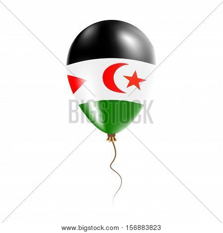 Western Sahara Balloon With Flag. Bright Air Ballon In The Country National Colors. Country Flag Rub