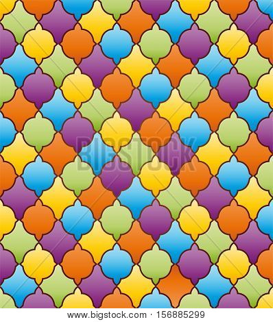 Abstract mosaic background with ornament. Illustration 10 version