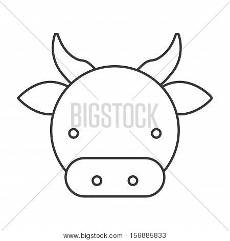 farm cow isolated icon vector illustration design