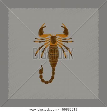 flat shading style illustration of animal Scorpio