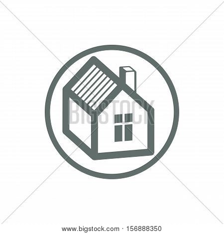 Home Vector Symbol, Estate Agency Theme, Can Be Used In Advertising And Web Design. Property Simple