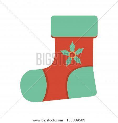 christmas socks decorative icon vector illustration design
