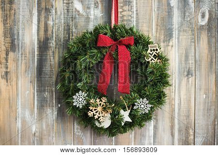 Christmas Aged Wood Background