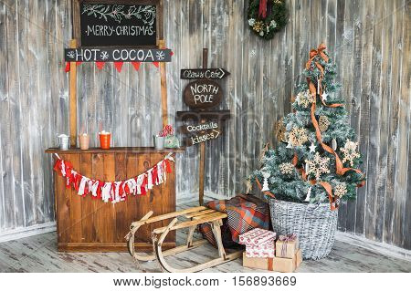 Decorated Interior For Christmas Holiday